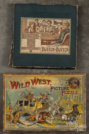 McLoughlin Bros  Wild West Picture Puzzle