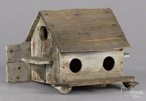 Primitive painted bird house