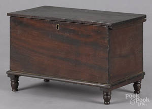 Miniature mahogany blanket chest