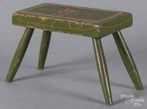 Pennsylvania painted foot stool