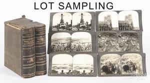 World War I stereoview cards in a bookform box