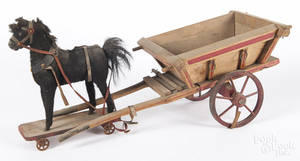 Horse drawn pull toy