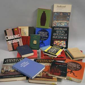 Large Collection of Books Pertaining to American Furniture and Decorative Arts Coins and Antique Glass
