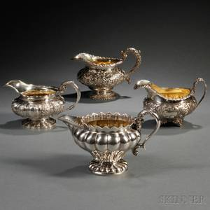 Four George IVWilliam IV Sterling Silver Creamers