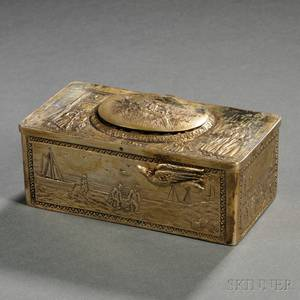 German 800 Silvergilt Singing Bird Automaton Box