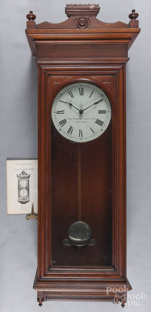 Self Winding Clock Co cherry wall clock
