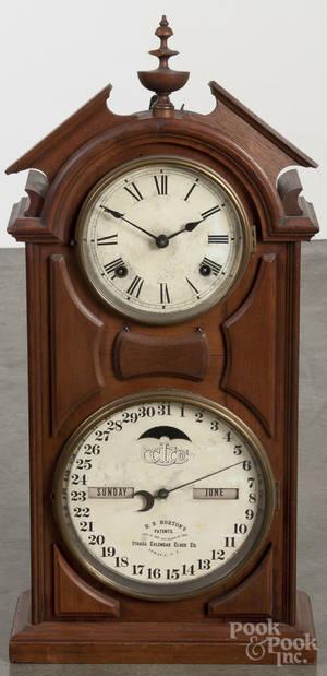 Ithaca walnut calendar clock