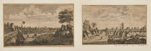 Continental School 18th Century Six Engravings of Chinese Harbors