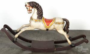 Painted pine hobby horse
