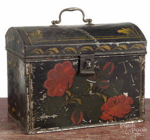Tin toleware document box