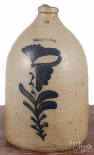 New York twogallon stoneware jug