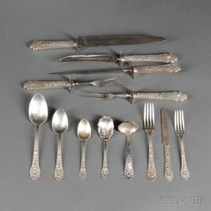 Assembled Gorham Old Medici Pattern Sterling Silver Flatware Service