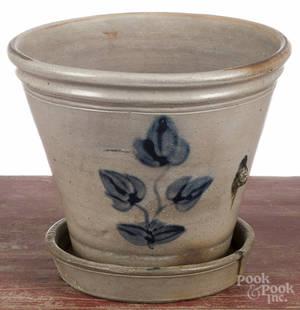 Pennsylvania stoneware flowerpot