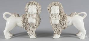 Pair of ceramic spaniels