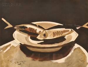 After Georges Braque French 18821963 Poissons