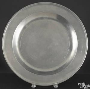 English pewter platter 19th c