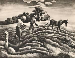Thomas Hart Benton American 18891975 Planting