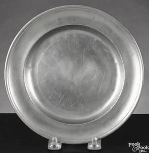 Philadelphia pewter plate ca 1780