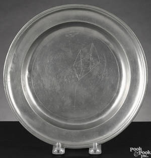 Albany New York pewter plate ca 1790