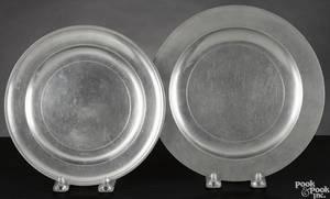 Two Charlestown Massachusetts pewter plates ca 1775