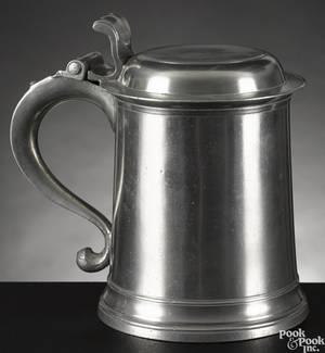 New York pewter tankard ca 1780