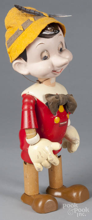 Large Ideal jointed wood Pinocchio