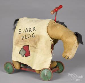 Large plush Barney Google  Spark Plug  riding toy