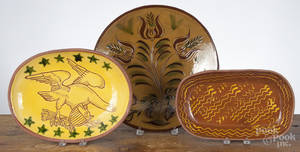 Contemporary Ned Foltz redware charger