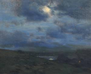 Charles Harold Davis American 18561933 Moonlight on the Coast