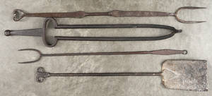 Cast iron fire tongs