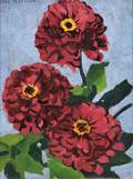 Jane Peterson American 18761965 Red Zinnias