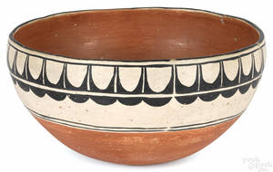 Native American Cochiti polychromed pot 20th c