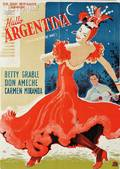 Five Vintage Dance and Ballet Posters Danish School 20th Century Hallo Argentina  Poster for Down Argentine Way