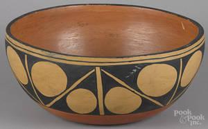Santo Domingo Pueblo New Mexico Native American Indian bowl 20th c