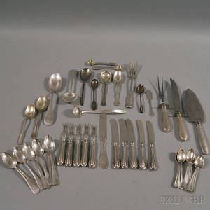 Small Group of Assorted English and American Sterling Silver Flatware