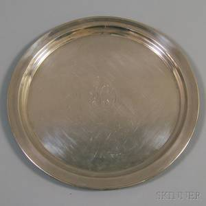 Reed  Barton Sterling Silver Round Tray