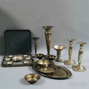 Large Group of Assorted Sterling Silver Tableware