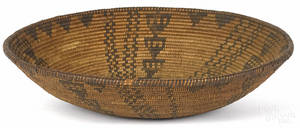 Southwest Native American coiled basketry tray ca 1900
