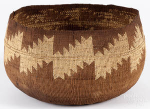 California Native American woven bowl