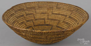 Native American Indian Pima coiled basketry bowl early 20th c