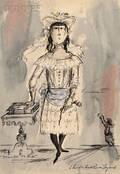 Miles White American 19142000 Costume Design for Child Fall River Legend