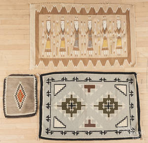 Three Native American Indian weavings 20th c