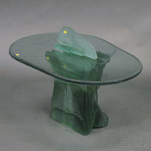 Threepiece Glass Sculptural Table from Design Concepts of Provincetown