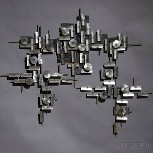 Threepiece Metal Wall Sculpture