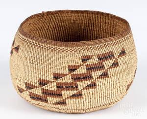 Hupa basketry bowl ca 1900