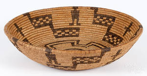 Apache coiled basketry bowl early 20th c