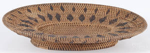 Native American basketry tray early 20th c