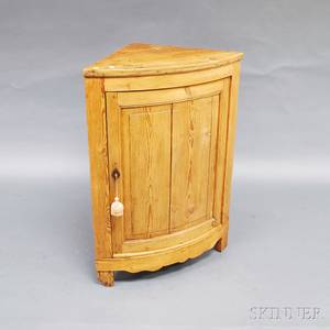 British Stripped Pine Corner Cabinet