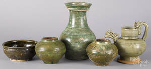 Two Chinese Han dynasty jars