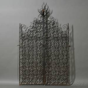 Pair of Spanish Colonialstyle Wrought Iron Gates